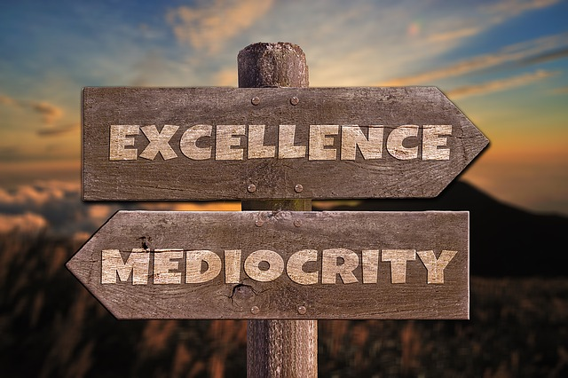 """""""Good"""" is just mediocre: """"Excellence"""" should be thegoal"""